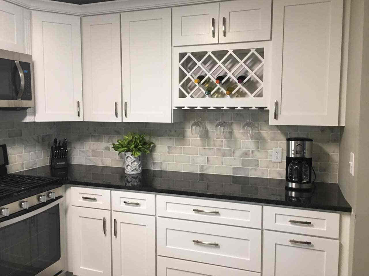 - Kitchen Cabinets -D2 White Shaker jacksonville solid wood cabinets D 817 Avigna Granite World