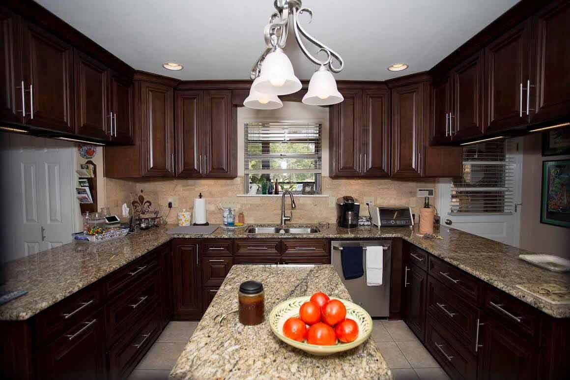 - Kitchen Cabinets -G3 Dark Caramel jacksonville solid wood cabinets G 829 Avigna Granite World